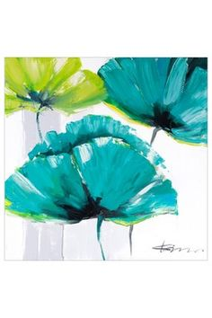 Green and Teal Poppies Wall Art CAN SOMEONE PLEASE BUY ME THESE MUST HAVE