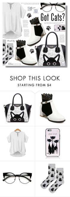 """Dresslily"" by becky12 ❤ liked on Polyvore featuring Hollywould, Kate Spade, Topshop and catstyle"