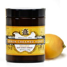 All Natural Lemon Creamed Honey