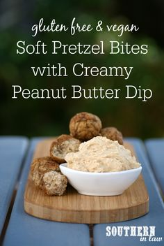 This Vegan Soft Pretzel Bites Recipe is super simple to make and served up with a creamy peanut butter dip. No rolling or shaping needed, this recipe is low fat, gluten free, clean eating recipe, vegan, egg free and dairy free.