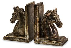 Pair of Stallion Bookends on OneKingsLane.com