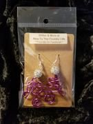 Comment at checkout with your color choice. If you don't comment, you will receive a random picked color. Christmas Tree Earrings, Earring Tree, Country Life, Wire Jewelry, Glitter, Color, Colour, Wire Wrapped Jewelry, Wire Wrap Jewelry