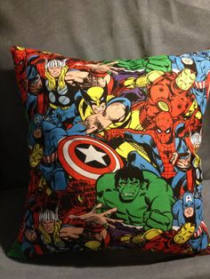 Marvel super hero pillow by AnnieAndAnnie on Etsy, $13.00