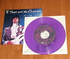 PRINCE Purple Rain / God Original JAPAN Purple Vinyl 45 Pic Sleeve 1984 [44408] - $99.99 : Vinyl Frontier Music, - Rare Records, CDs, posters, memorabilia, and more:, Vinyl Frontier Music, - Rare Records, CDs, posters, memorabilia, and more: