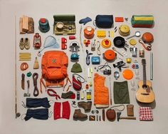camping visual check list - this is beautiful! Glad to see a couple of wine glasses made the cut!