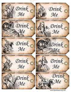 Alice in Wonderland 'Drink Me' tags-template.jpg