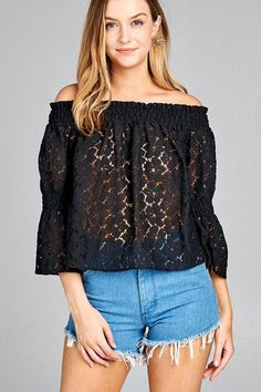0138312bdd49c Casual Black Off Shoulder Floral Top  tops  fashionista  getthelook   fashiontrends  summerstyle  summerfashion  style