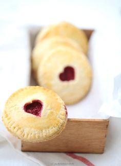 Back Rezept Himbeeren Pie mit Herz zum Valentinstag