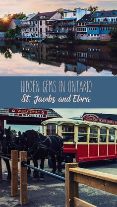 Discover the best top things to do in St. Jacobs and Elora. An itinerary of things to do in the most beautiful town of Ontario, Elora, and the famous St. Jacobs Farmers Market, the largest farmers' market in Canada. Vancouver, Canada Travel, Travel Usa, Ottawa, Montreal, Ontario Travel, Toronto Travel, Columbia, Canada Destinations