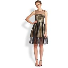 ABS Metallic Cocktail Dress and other apparel, accessories and trends. Browse and shop related looks.