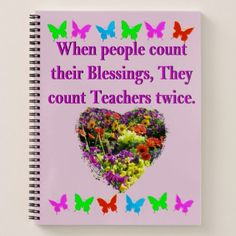BLESSED AND INSPIRING TEACHER DESIGN NOTEBOOK - college gift idea customize diy unique special