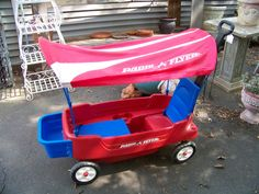 SOLD. Radio Flyer wagon with canopy. www.chconsignment.com
