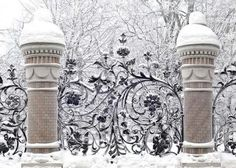 Do you Have Christmas Snow Yet? If Not Enjoy these Snow Photos : winter Winter Magic, Winter Snow, Winter White, Snow Scenes, Winter Scenes, Tor Design, Gazebos, Wrought Iron Gates, Fence Gate