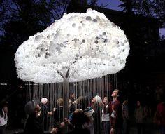 CLOUD: An Interactive Sculpture Made from 6,000 Light Bulbs
