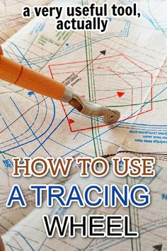 Learn how to use a tracing wheel for beginner sewing projects. Find out what the tracing wheel is and why this mysterious-looking sewing tool should become a part of your sewing toolkit. The purpose of the tracing wheel is to transfer your patterns over to your fabric easily and accurately. Simply use the tracing wheel in conjunction with some transfer paper to trace your pattern onto your fabric. Sewing For Beginners Diy, Sewing For Dummies, Sewing Basics, Sewing Hacks, Sewing Tutorials, Easy Sewing Patterns, Sewing Tools, Transfer Paper, Being Used