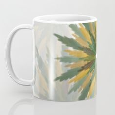 Leafy Wreaths Coffee Mug by weivy Pattern Flower, Presents For Friends, Good Cause, Beach Towel, Coffee Mugs, Wreaths, Ceramics, Gift Ideas, Personalized Items