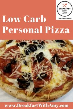 This low carb keto friendly pizza is a family favorite! With only 6 net carbs per pizza it easily fits into a daily meal plan that is satisfying. Low Carb Pita Bread, Low Carb Pizza, Keto Bread, Low Carb Blog, Low Carb Diet, Easy Low Carb Lunches, Pita Pizzas, Personal Pizza, Daily Meals
