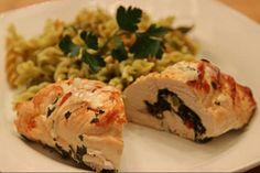 Recettes gourmandes Roulade de poulet à la grecque
