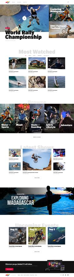Red Bull TV – Website Ui design concept by Jenny Johannesson for UENO.