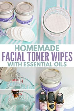 How to make easy DIY facial toner pads with essential oils and natural ingredients for refreshing skin care - quick and easy to make, plus which essential oils work the best for different skin types, Check more at. Beauty Care, Diy Beauty, Beauty Tips, Homemade Beauty, Beauty Ideas, Beauty Products, Face Beauty, Natural Products, Beauty Habits