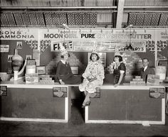 Borden Moon Girl Butter booth at a Washington DC... - WeirdVintage