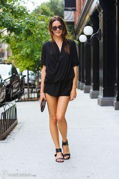 black romper / street style