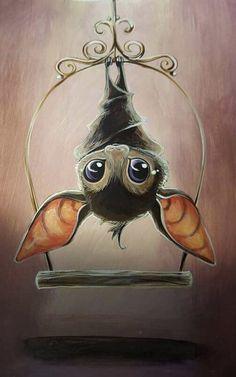 Meet Your New Favorite Hobby. Diamond Painting By Numbers. Cartoon Bat, Hanging Bat, Cute Bat, Greek Art, Kawaii, 5d Diamond Painting, Halloween Art, Embroidery Art, Animal Drawings
