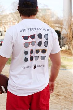 Use Protection Tee in White by Southern Proper