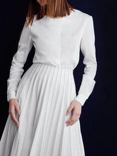 Olya Kosterina Panel Sheer Shirt SS2016