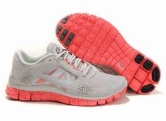 d6d3982e3182e Women Nike Free 3 5.0 EXT in Grey Coral Red Suede Run Shoes Nike Free