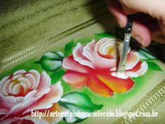 pintura em tecido rosa passo a passo