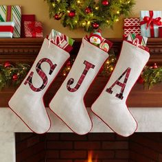 Where to purchase Personalized Plaid Christmas Stocking for Christmas Gifts Idea Shop Plaid Christmas Stockings, Diy Stockings, Christmas On A Budget, Christmas Fun, Personalized Stockings, Nutcracker Christmas, Diy Weihnachten, Christmas Knitting, Stocking Decorating Ideas