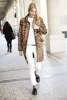 Carry your winter leopard into spring by pairing it with white!  Spr.2014