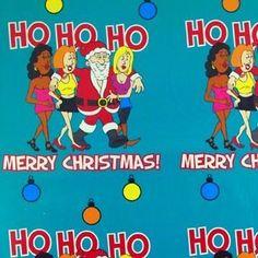 Flashing Santa - Green Gift Wrap | Funny Gift Wrapping Ideas ...