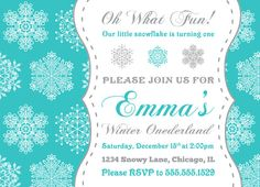 19 Best Winter Wonderland Invitation Images Birthday Ideas