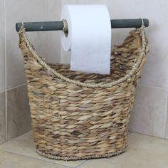 Rustic Toilet Paper Holder / Magazine Basket