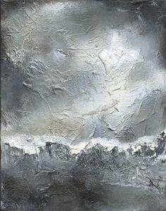 Duality - Ecofriendly Monochrome Black and White Oil Painting