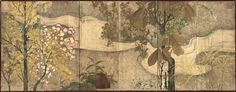 """Screens from the Edo period in the exhibition """"A Sensitivity to the Seasons: Summer and Autumn in Japanese Art"""" at the Met."""