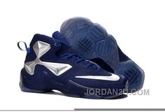 Nike LeBron 13 Blue Silver Grade School Shoes Best JjyDb4