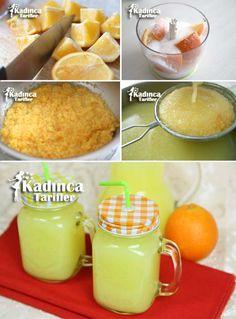 Making 5 Liters Orange Juice With 3 Oranges Jus D'orange, Recipe Mix, Beverages, Drinks, Turkish Recipes, Marmalade, Orange Juice, Soup And Salad, Deserts