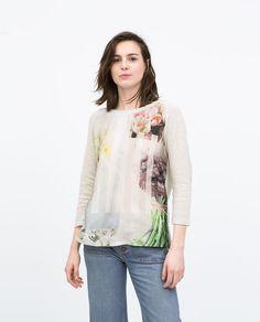 ZARA - WOMAN - FLOWER PRINT T-SHIRT