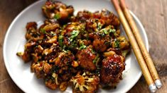 98 save your brunch money here exactly how to make an omelet like a pro 34 Kung Pao Cauliflower, Cauliflower Recipes, Meals Without Meat, Asian Recipes, Ethnic Recipes, Chinese Recipes, Omelet, Vegan Dishes, Diet