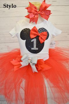 Minnie Mouse Tutu Set order or follow us on Facebook ; www.facebook.com/... #minniemouse #redtutu #birthday #styloboutique