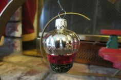 vintage glass strawberry ornament by MyVintageAngels on Etsy, $18.00
