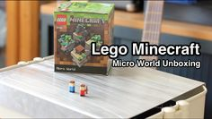 Lego Minecraft Micro World Unboxing Minecraft Video Games, How To Play Minecraft, Lego Minecraft, Lego Stuff, Lego Brick, Lego Sets, Best Gifts, Anime Characters, Lego Blocks