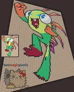 (4) Name: 'Crocheting : Warcraft Murloc C2C Graph