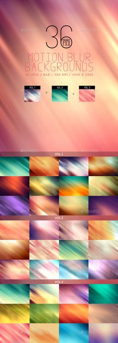 36 Motion Blur Backgrounds Bundle