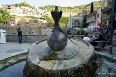 Monument Fountain Falcon and Pheasant, Tbilisi Pheasant, Antalya, Istanbul, Fountain, Outdoor Decor, Water Well, Water Fountains, Common Pheasant