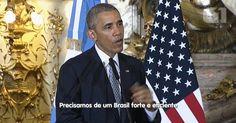 Obama diz esperar que Brasil resolva crise política 'de forma eficaz'