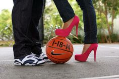 basketball engagement pictures save the date \ basketball engagement pictures